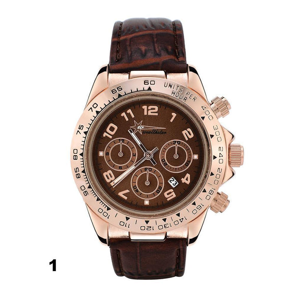 Montre Daytona Hommes Sports  Bracelet En Cuir Quartz  Marque Famosa - At-Home Group