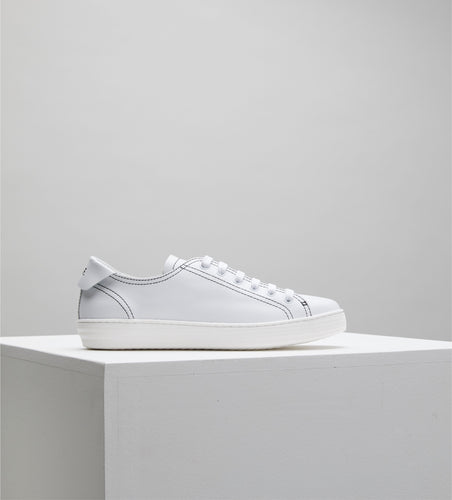 D.O.F. Eden Sneaker | White/Black Stitch