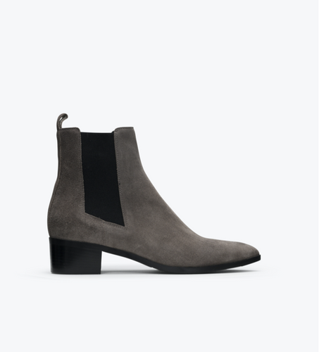 Department of Finery DOF Carina Boots Taupe Smoke Suede