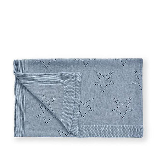 Pointel Baby Blanket Blue
