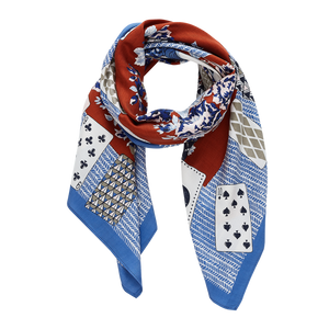 Lady Luck Brick & Blue Scarf