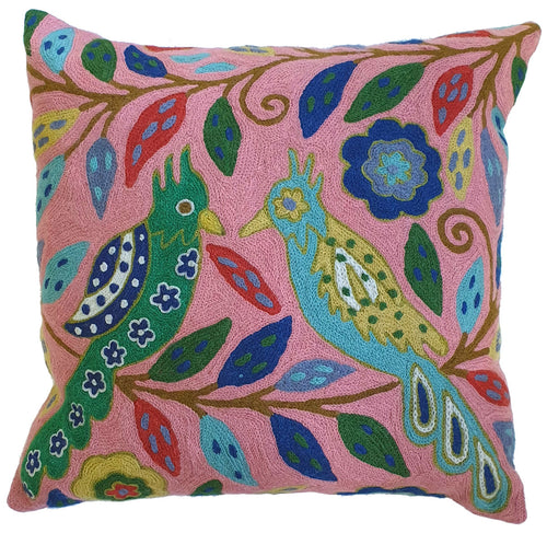 Pink Love Birds Cushion