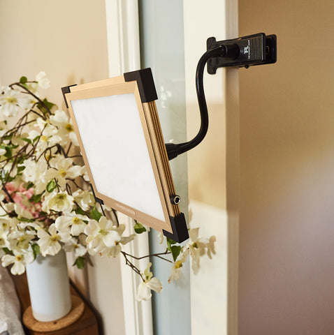 Key Light 2.0 mounted to door via EZ Clamp