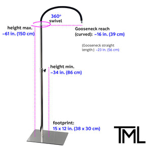 Floor Stand - Mounting Option - Luxury Lighting for Pros & Home - The Makeup Light
