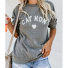 CAT MOM Heart Print Hoodie Sweatshirt