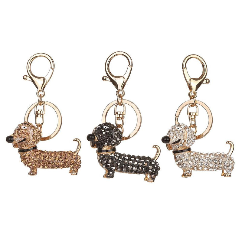 Dog Dachshund Key chain Bag Charm Holder