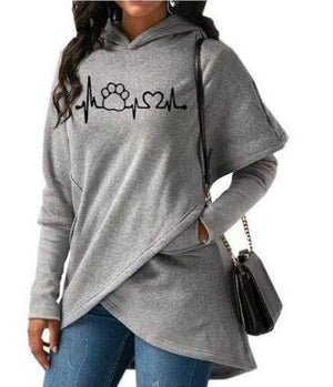 Dog Paw Print Hoodies Sweatshirt Pullovers