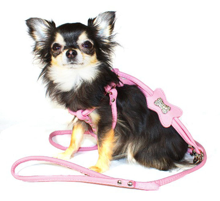 Pink Bone DesighnerCharmStep-in Harness