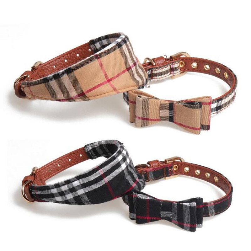 New Bow and triangle scarf pet collar
