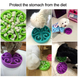 Slow Feed Dog Bowl,Anti-Choking,Healthy Pet Food Bowl To Prevent Obesity,Dog Feeder Dish
