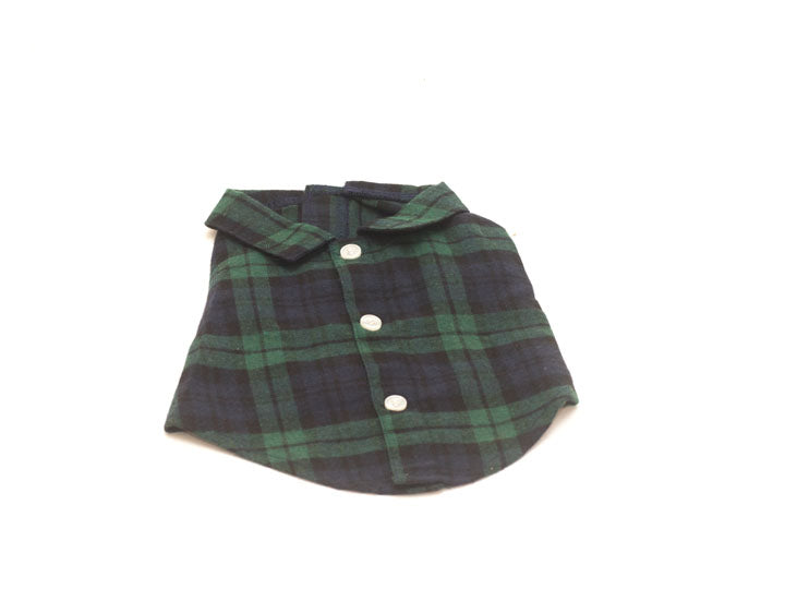 Worthy Dog Black Flannel Dog  Shirt
