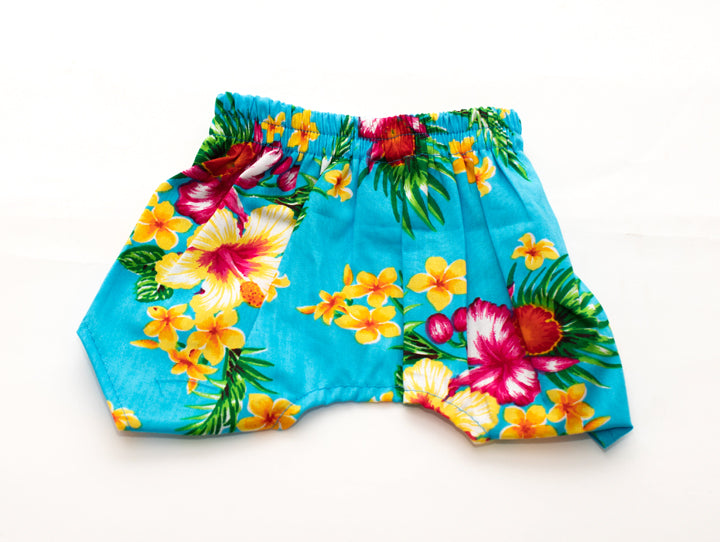 Blue Florial Board Shorts