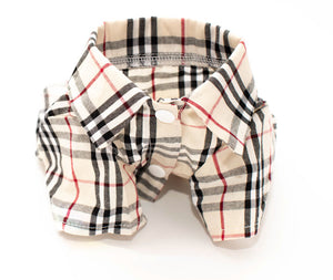 Plaid Collard Shirt