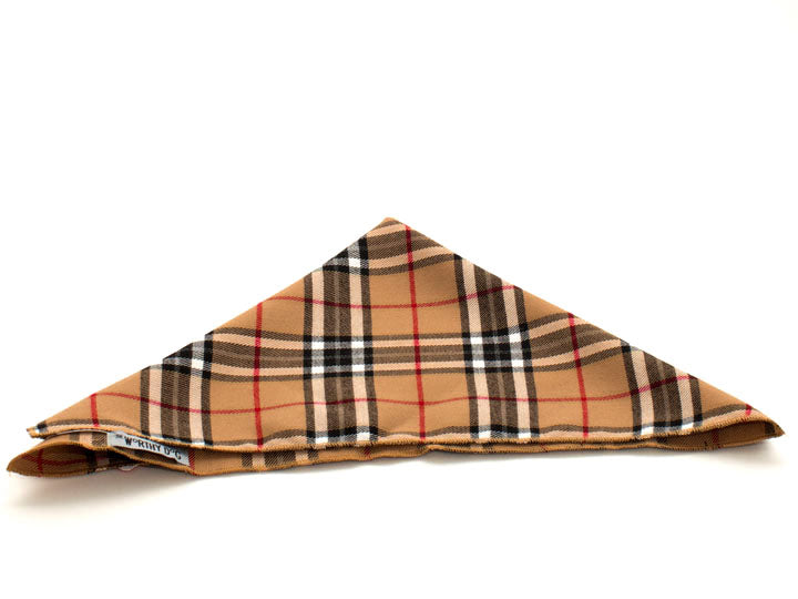 Bandana-Tan Plaid Tie