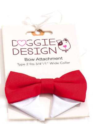 Universal Bow Tie- Solid Red