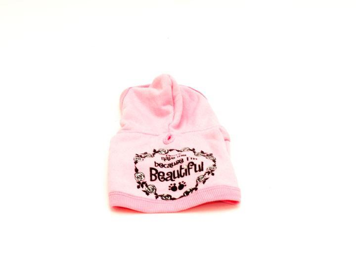 Don't Hate Me Because I'm Beautiful Pet Hoodie-Pink