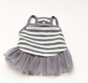 Gray-White Ballet Dress