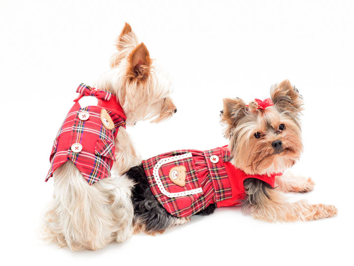 Plaid Pet Dress or Vest By Ruff Couture