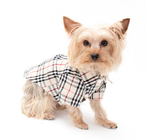 Plaid Pet Collard Shirt