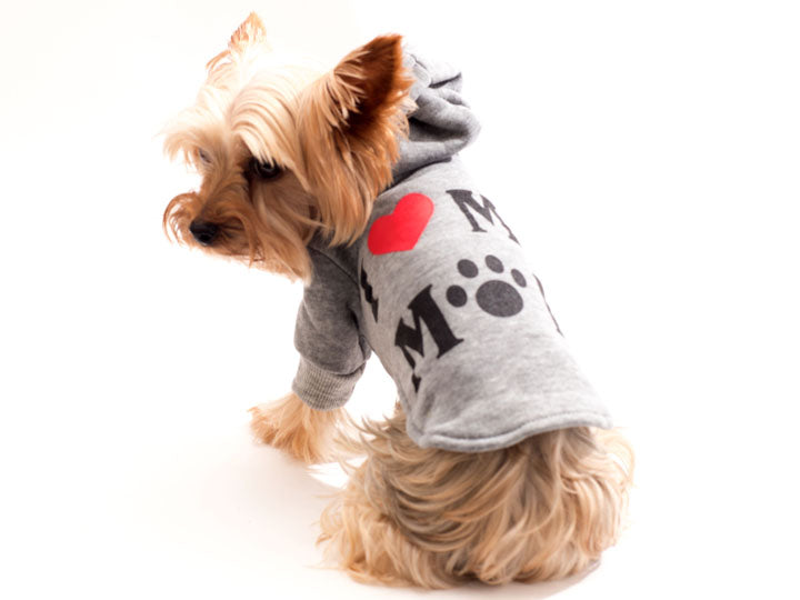 Love My Mom Cotten Pet Hoodie