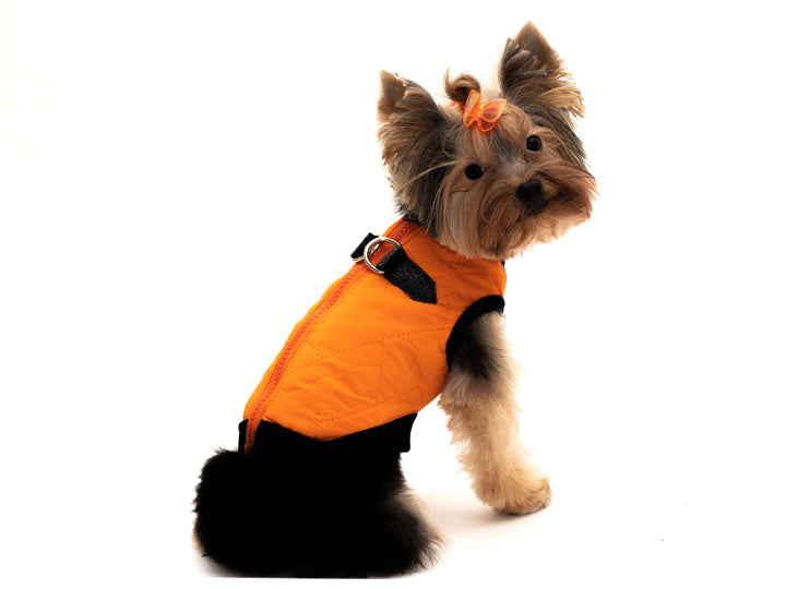 Waterproof Pet Coat-Vest-orange forSmall and Large Canines