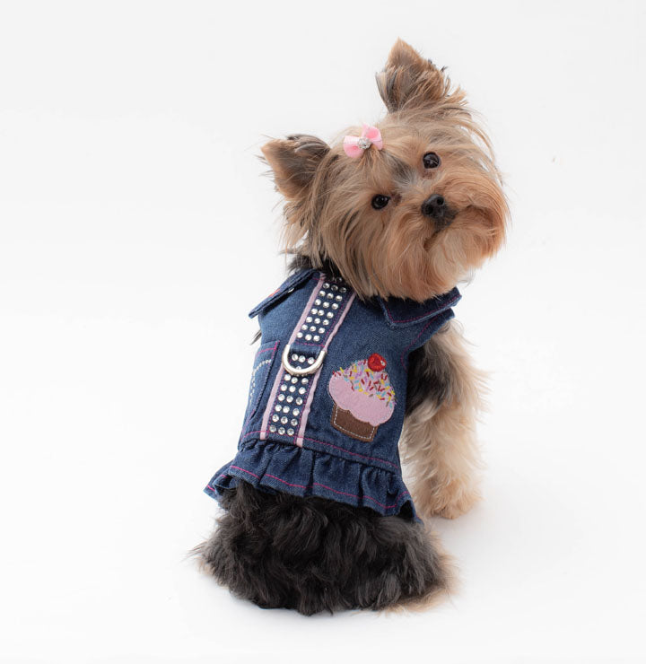 Denim Pet Harness