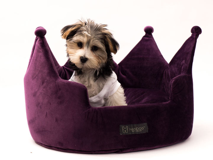 Crown Micro Plush Pet Bed