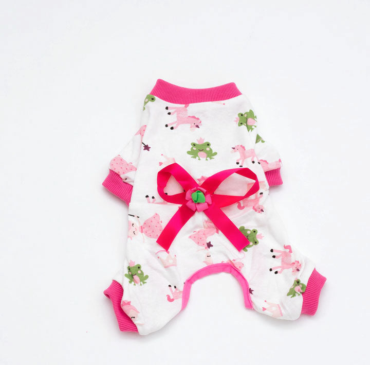 Soft Pink Pet Cartoon Onesie for Pet