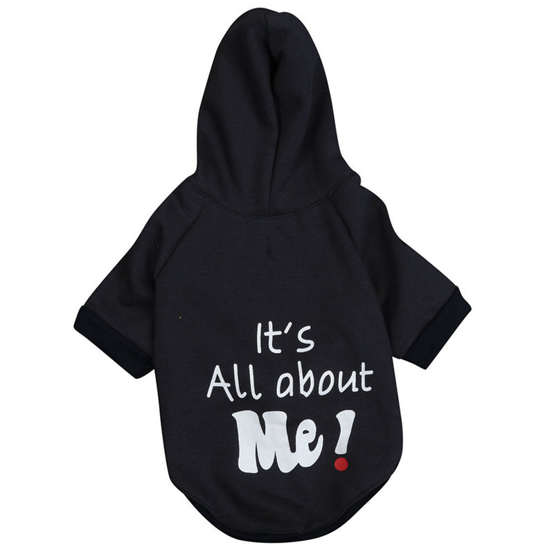 Its All About Me Pet Hoodie- black
