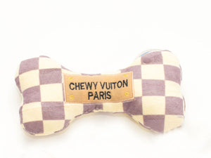 Chewy Vuitt on Checkered Bone Toy