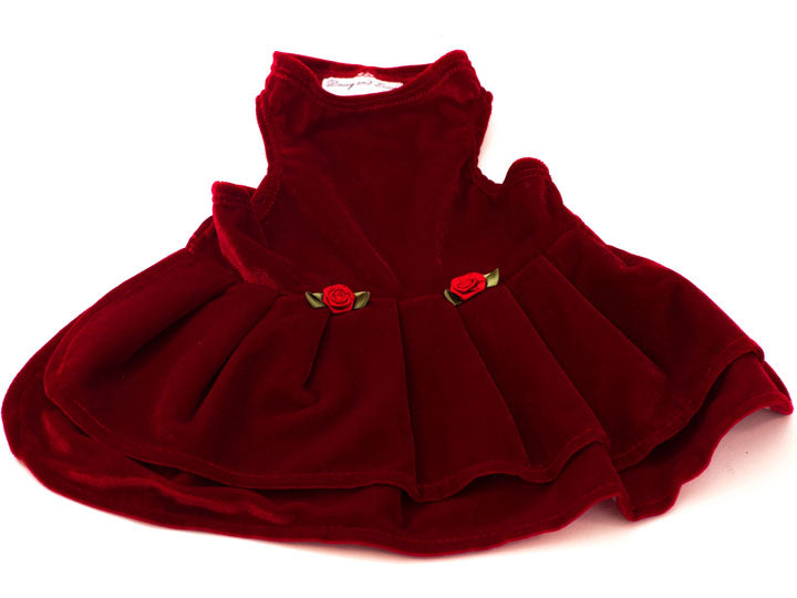 Red Velvet top with double Velvet shirt (Dress)