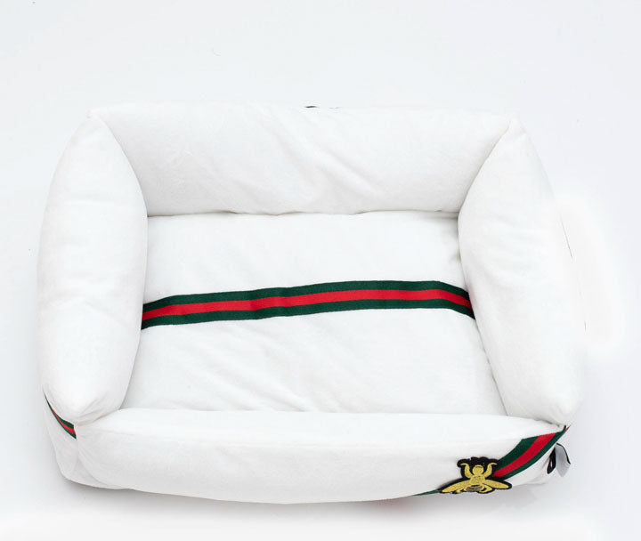 White Pet Bed