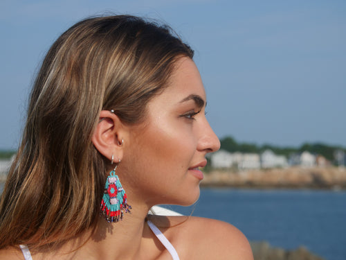 Native American handbeaded earrings