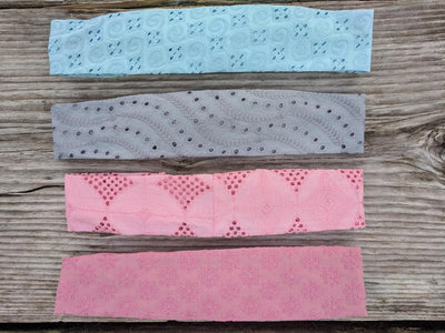 Upcycled Eco-Friendly Eyelet Headbands