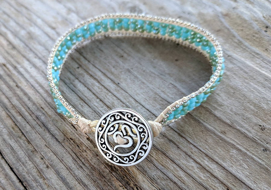 All Points East Apparel Rondelle Seed Bead Turquoise Bracelet