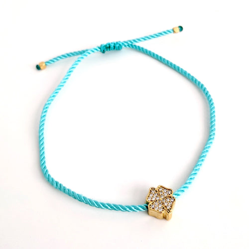 All Points East 24K Gold Plated Clover Bracelet
