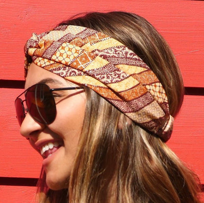 All Points East Apparel Upcycled Eco-Friendly Ethnic Turban Headbands