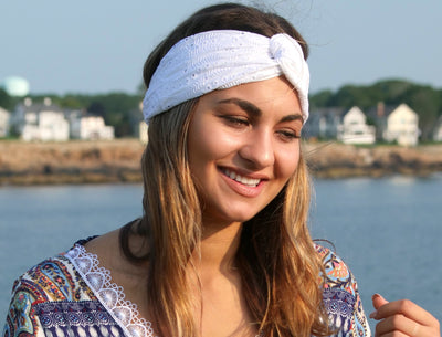 Upcycled Eco-Friendly Embroidered Turban Headbands