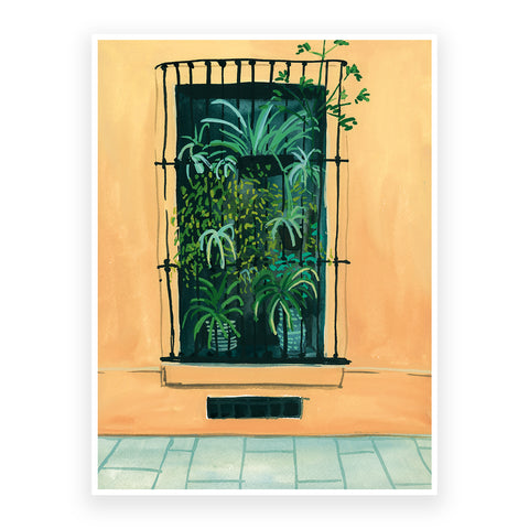 Window in Barcelona, 30x40cm Print