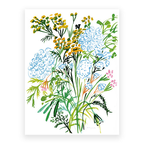 Summer Bunch with Tanacetum Vulgare, 30x40cm Print