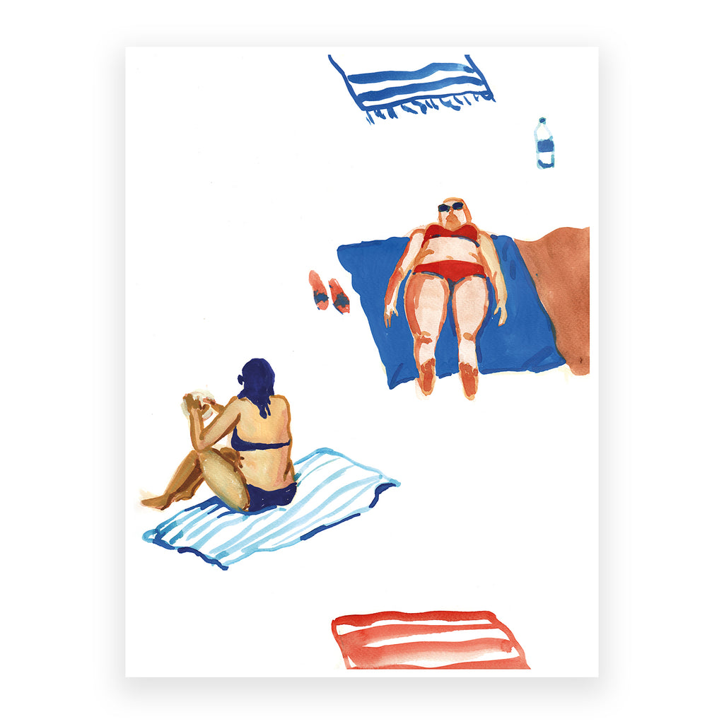 Bodies and Towels, 30x40cm Print