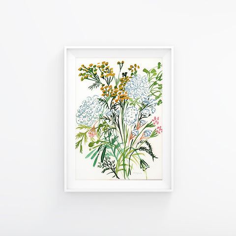 Summer Bunch with Tanacetum Vulgare 230x310mm, Original Artwork