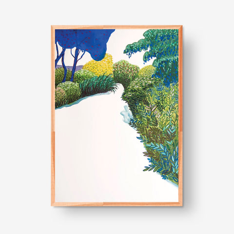 The Way and Blue Trees 500x700mm, Original artwork (Sold Out)
