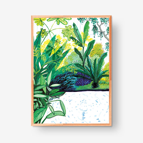 Little Pond at Conservatory, 50x70cm Glicée Print