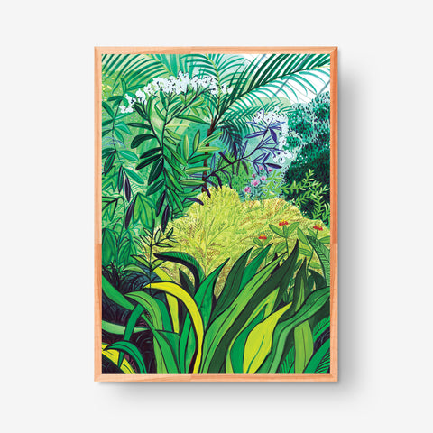 Yellow Bush, 50x70cm Glicée Print