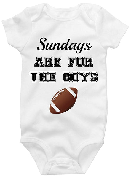 Sunday's Are For The Boys Cute Onesie Adorbale Funny Baby Bodysuit