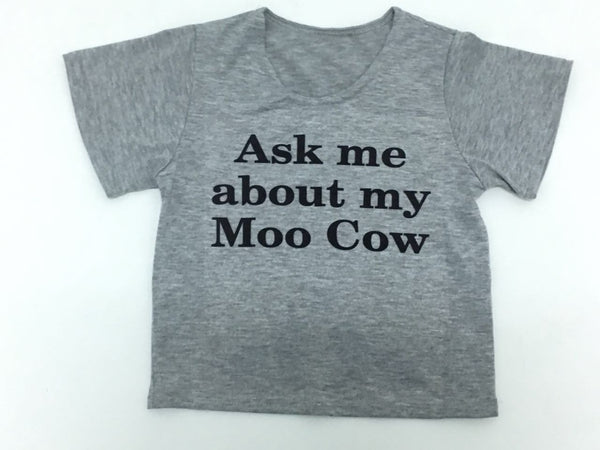 Ask Me About My Moo Cow Kids T-Shirt