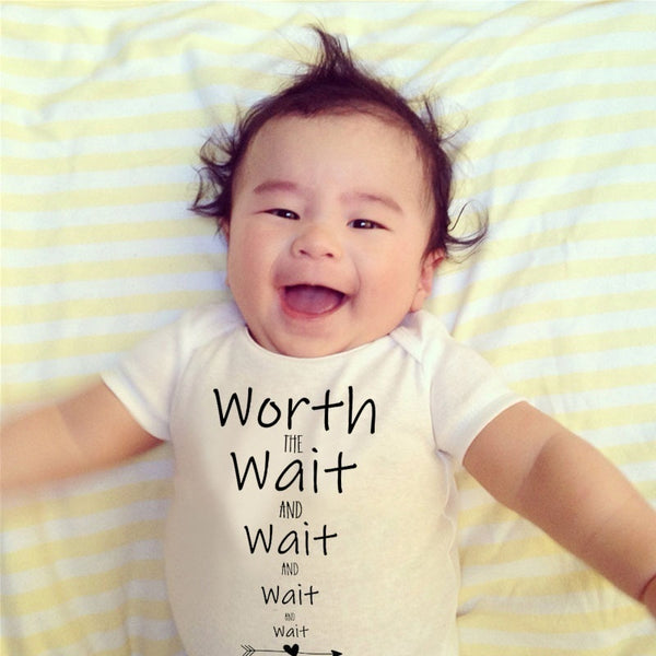 Wait Wait Wait Funny Baby Onesies Babe Infant White Summer Monogrammed Match Family Jumpsuit Rompers