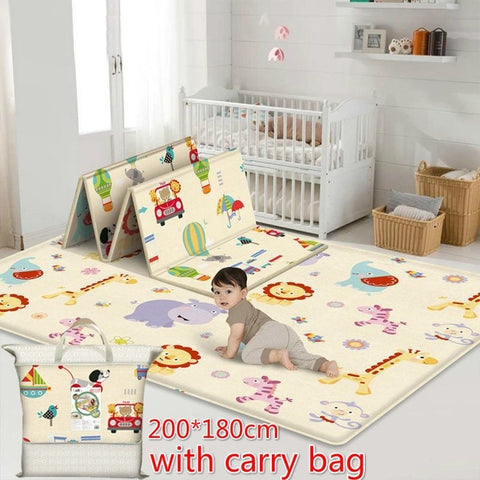 180X200CM Foldable Baby Crawl Mats Newborn Infant Play Mat Carpet for Living Room Kids Room Decorative Rugs 1cm Thickness