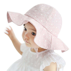 Baby Girl Pink Summer Floral Print Hat